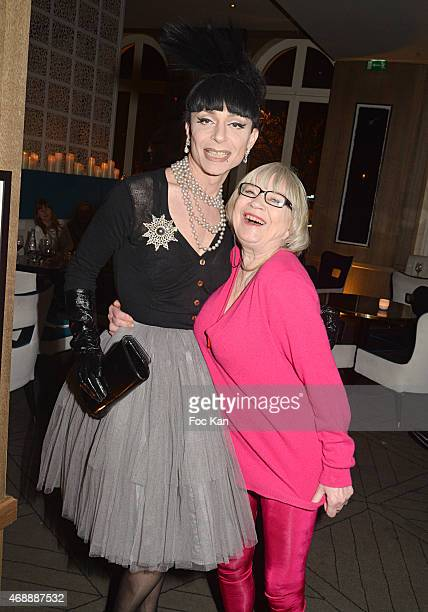 Fashion designer Lola Marcier and Susi Wyss attend The Thomas Dutronc Friends Private Concert At the Victoria on April 7 2015 in Paris France