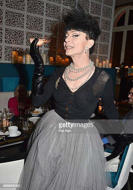 Fashion designer Lola Marcier attends The Thomas Dutronc Friends Private Concert At the Victoria on April 7 2015 in Paris France