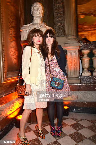 Fashion designer Lolita Lempicka and daughter Paulina Leonore attends the 50 th Anniversary of 'Sophie La Girafe' at Salon France Ameriques on May 24...