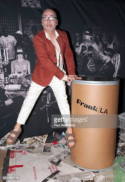 Fashion designer Louis Verdad attends Frank LA Issue Release Celebration 'No 001 No Place Like Home' at Imperial Art Studio on July 23 2015 in Los...