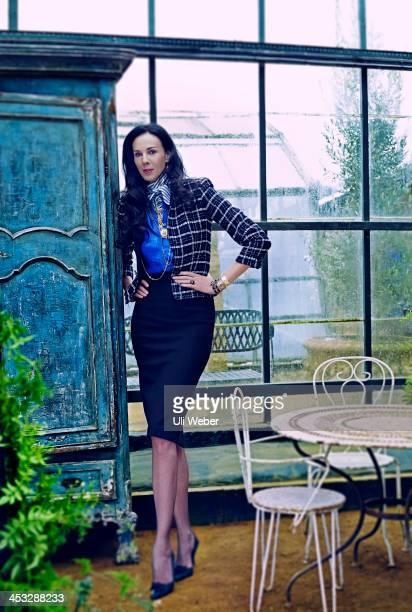 Fashion designer L'Wren Scott is photographed for Tatler magazine on January 23 2013 in London England
