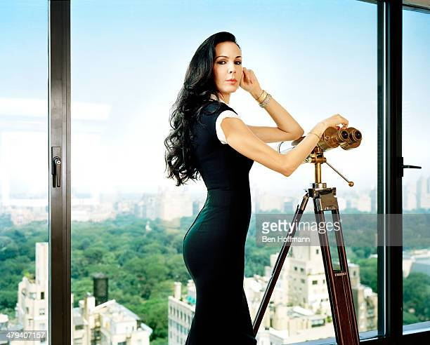 Fashion designer L'Wren Scott is photographed for Vanity Fair Magazine on June 9 2011 in the Empire Suite of the Carlyle in New York City