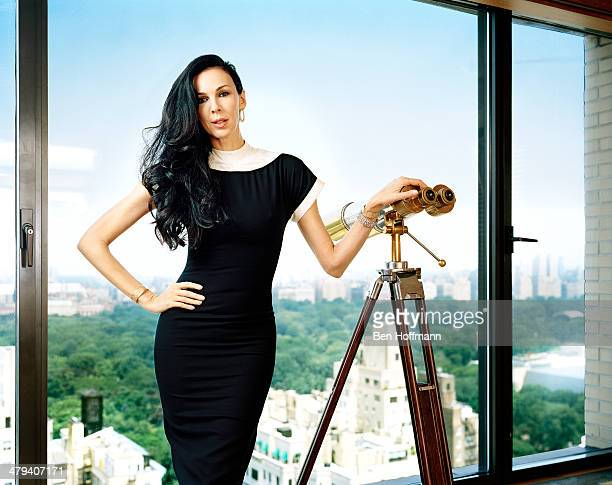 Fashion designer L'Wren Scott is photographed for Vanity Fair Magazine on June 9 2011 in the Empire Suite of the Carlyle in New York City PUBLISHED...