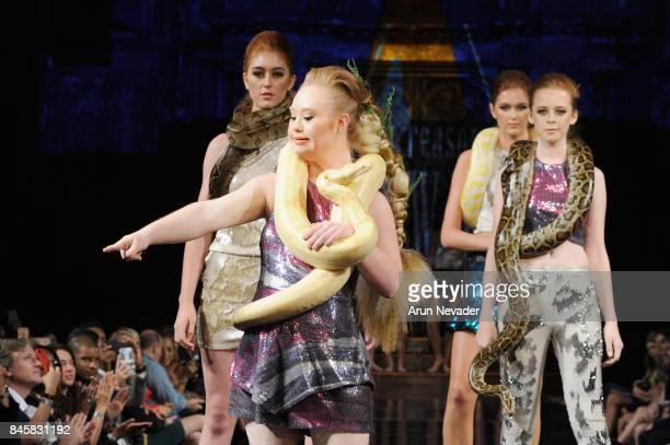 Fashion Designer Madeline Stuart walks the runway for the 21 Reasons Why by Madeline Stuart fashion show during New York Fashion Week NYFW Art Hearts...