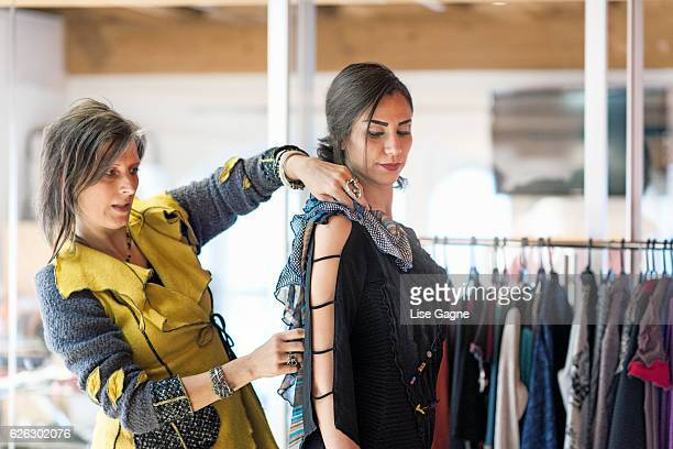 Fashion Designer making adjustment