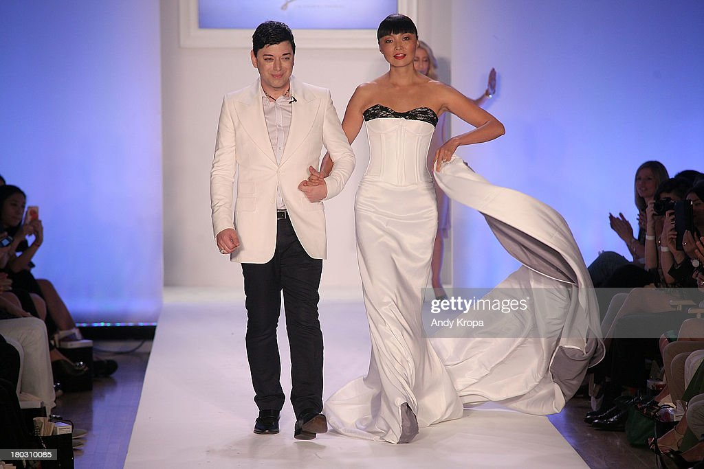 Fashion designer Malan Breton walks the runway at the Malan By Malan Breton fashion show during STYLE360 Spring 2014 at Metropolitan Pavilion on September 11, 2013 in New York City.