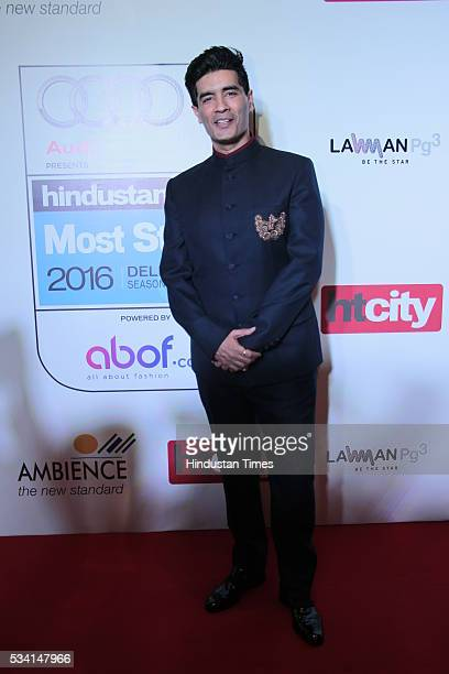 Fashion designer Manish Malhotra arriving at red carpet of Hindustan Times Most Stylish Awards 2016 at Hotel JW Marriott Aerocity on May 24 2016 in...