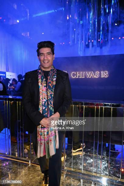 Fashion designer Manish Malhotra attends the third edition of Chivas 18 Alchemy 2019 on March 16 2019 in New Delhi India