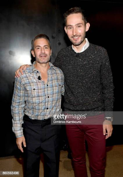 Fashion designer Marc Jacobs and Instagram co-founder Kevin Systrom attend Vogue's Forces of Fashion Conference at Milk Studios on October 12, 2017...