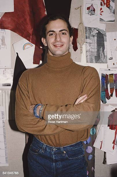 Fashion designer Marc Jacobs in his new design studio, New York, January 1989.