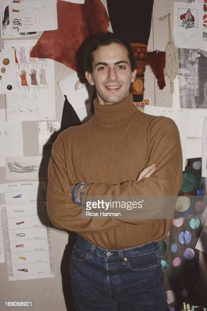 Fashion designer Marc Jacobs in his new office January 1989