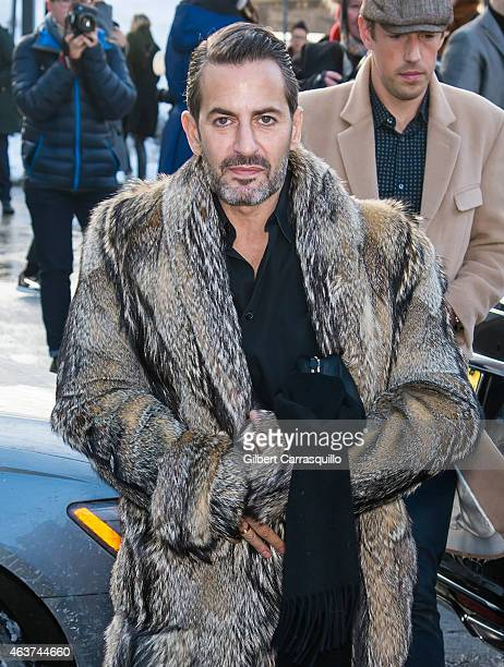 Fashion designer Marc Jacobs is seen leaving Marc By Marc Jacobs fashion show during MercedesBenz Fashion Week Fall 2015 at Pier 36 on February 17...