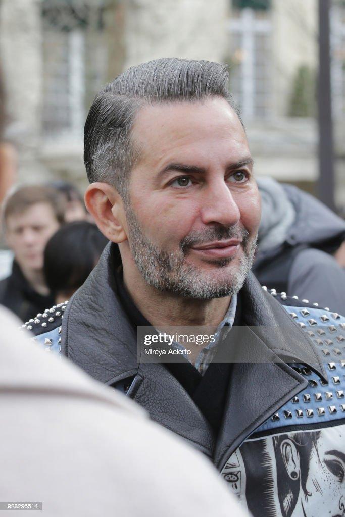 Fashion designer Marc Jacobs seen at the Miu Miu fashion show during Paris Fashion Week Womenswear Fall/Winter 2018/2019 on March 6, 2018 in Paris, France.
