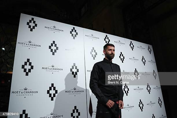 Fashion designer Marcelo Burlon arrives for Moet Nectar Imperial Rose Limited Edition by Marcelo Burlon The Tiger Bottle Collection Unveiling event...