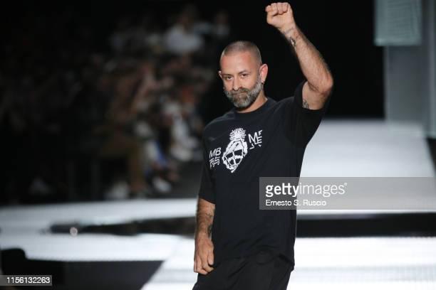 Fashion designer Marcelo Burlon walks the runway at the Marcelo Burlon County Of Milan show during the Milan Men's Fashion Week Spring/Summer 2020 on...
