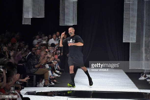 Fashion designer Marcelo Burlon walks the runway at the Marcelo Burlon County Of Milan fashion show at the Milan Men's Fashion Week Spring/Summer...