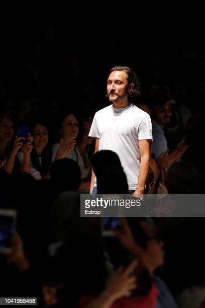 Fashion designer Marco de Vincenzo at the Marco De Vincenzo show during Milan Fashion Week Spring/Summer 2019 on September 21 2018 in Milan Italy