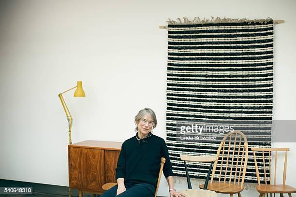 Fashion designer Margaret Howell is photographed for Mr Porter on February 17 2015 in London England