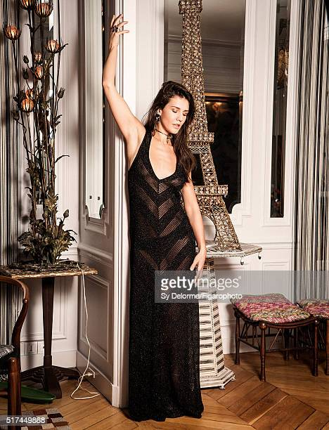 Fashion designer Margherita Missoni is photographed for Madame Figaro on January 27, 2016 in Paris, France. Dress , earrings and necklace , bracelet...