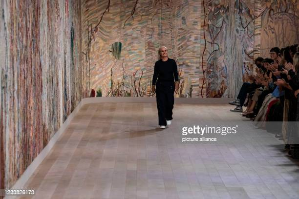 Fashion Designer Maria Grazia Chiuri at DIOR Haute Couture Fall Winter 2021-22 runway - Paris, France.