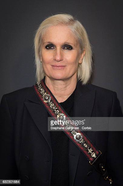 Fashion Designer Maria Grazia Chiuri attends the Dior Homme Menswear Fall/Winter 20172018 show as part of Paris Fashion Week on January 21 2017 in...