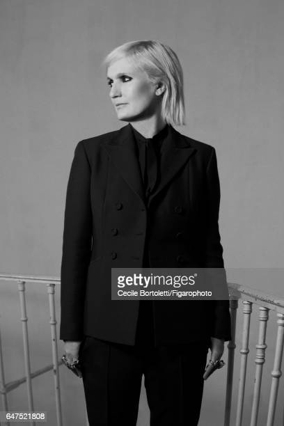 Fashion designer Maria Grazia Chiuri is photographed for Madame Figaro on January 12 2017 in Paris France Designer wears her own clothing PUBLISHED...