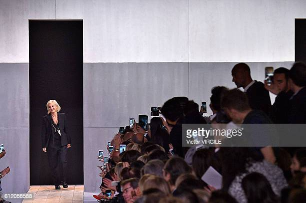 Fashion designer Maria Grazia Chiuri walks the runway during the Christian Dior Ready to Wear fashion show as part of the Paris Fashion Week...