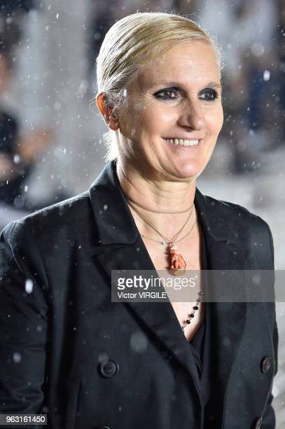 Fashion designer Maria Grazia Chiuri walks the runway during the Christian Dior Couture S/S19 Cruise Collection on May 25 2018 in Chantilly France