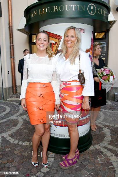 Fashion designer Marina Hoermanseder and guest during the Christian Louboutin Store Opening on June 23 2017 in Munich Germany