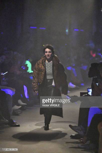 Fashion designer Marine Serre walks the runway at the Marine Serre Ready to Wear Fall/Winter 20192020 fashion show at Paris Fashion Week...