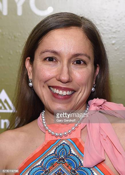 Fashion designer Marisol Deluna attends Housing Works Design On A Dime Opening Night Reception at Metropolitan Pavilion on April 21 2016 in New York...