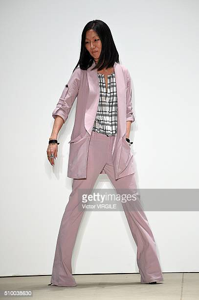 Fashion designer Marissa Webb walks the runway at the Marissa Webb Fall/Winter 2016 during the New York Fashion Week on February 11, 2016 in New York...