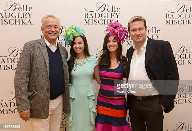 Fashion designer Mark Badgley Alexandra Dillard Annemarie Dillard and fashion designer James Mischka attend Badgley Mischka Celebrates The Kentucky...
