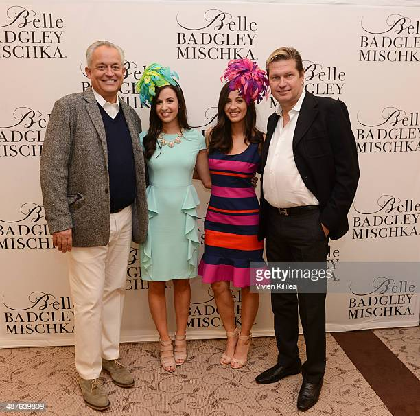 Fashion designer Mark Badgley Alexandra Dillard Annemarie Dillard and fashion designer James Mischka attend Badgley Mischka Celebrates The Kentucky...