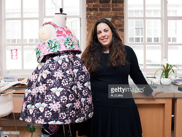 Fashion designer Mary Katrantzou is photographed for the Independent in London England