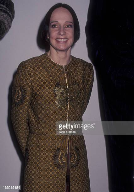 Fashion Designer Mary McFadden attends GQ Magazine Celebrates America's Leading Designers on January 20 1993 at the Guggenheim Museum of Art in New...