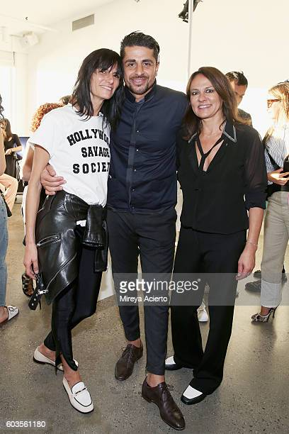 Fashion designer Maryam Alborzi Ali Alborzi and Marjan Malakpour attend the Newbark presentation during MADE Fashion Week September 2016 at Milk...