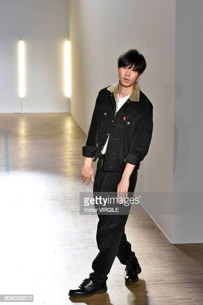Fashion designer Masanori Morikawa walks the runway during the Christian Dada Menswear Fall/Winter 20182019 show as part of Paris Fashion Week on...