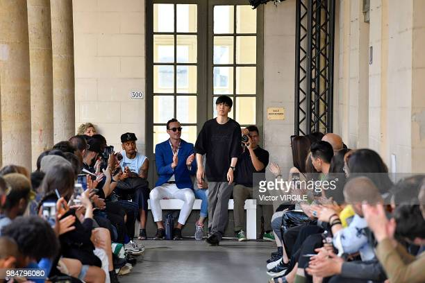 Fashion designer Masanori Morikawa walks the runway during the Christian Dada Menswear Spring/Summer 2019 fashion show as part of Paris Fashion Week...