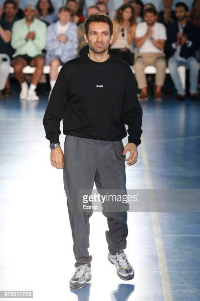 FAshion designer Massimo Giorgetti at the MSGM show during Milan Men's Fashion Week Spring/Summer 2019 on June 17, 2018 in Milan, Italy.