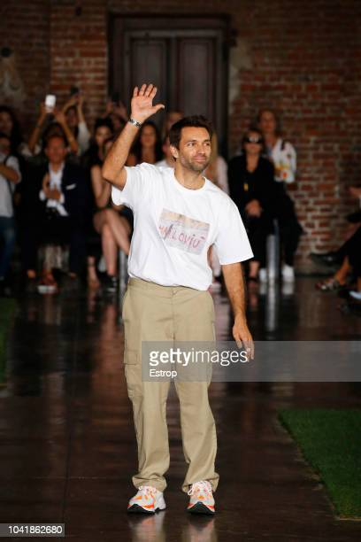 Fashion designer Massimo Giorgetti at the MSGM show during Milan Fashion Week Spring/Summer 2019 on September 21, 2018 in Milan, Italy.