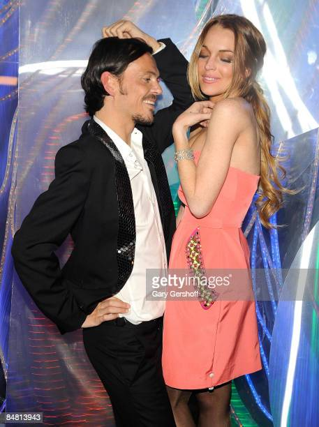 Fashion designer Matthew Williamson and actress Lindsay Lohan attend the New York store opening celebration for Matthew Williamson at 415 West 14th...
