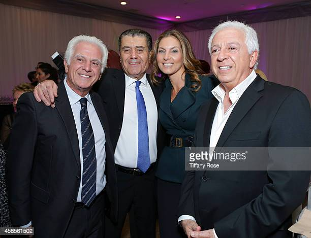 Fashion designer Maurice Marciano gala cochair Haim Saban Mareva Georges Marciano and fashion designer Paul Marciano attend the Friends Of The Israel...