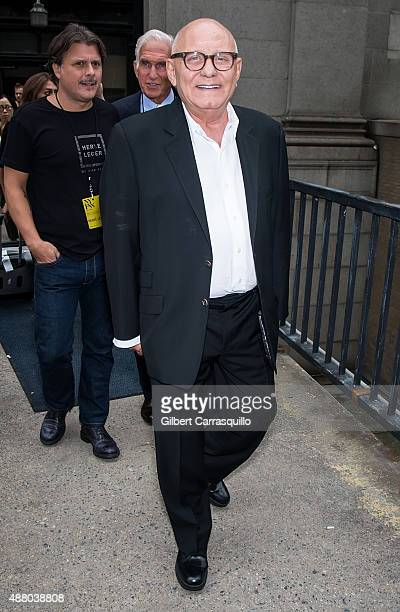 Fashion designer Max Azria is seen arriving at Herve Leger By Max Azria fashion show during Spring 2016 New York Fashion Week on September 12 2015 in...