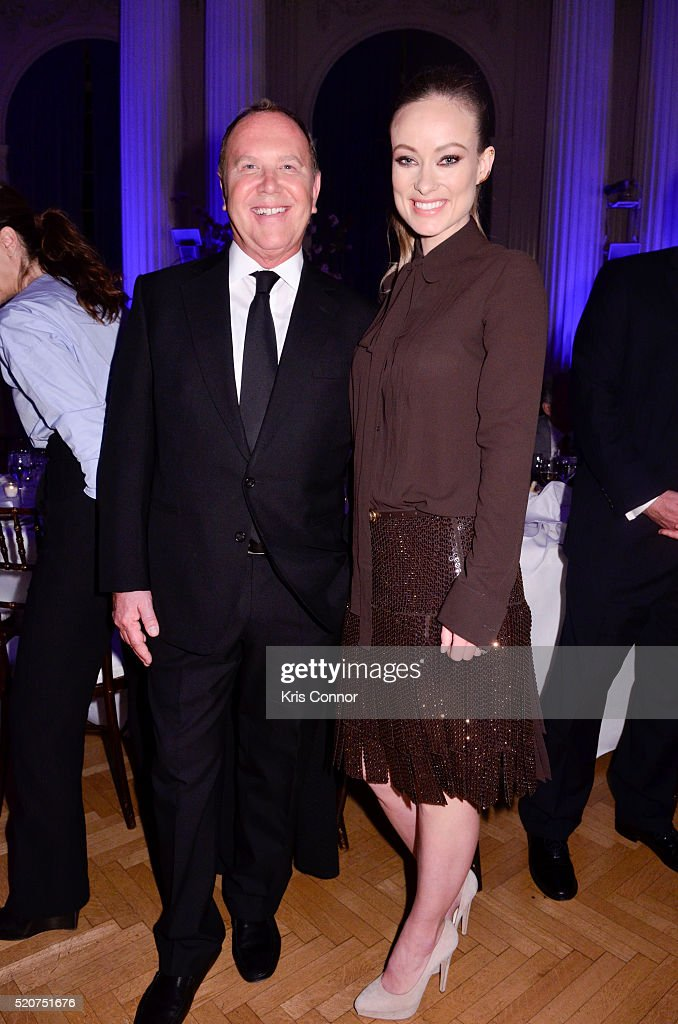 Fashion designer Michael Kors and actress Olivia Wilde attend the World Food Program USA's 2016 McGovern-Dole Leadership Award Ceremony at the Organization of American States on April 12, 2016 in Washington, DC.