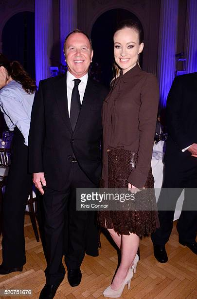 Fashion designer Michael Kors and actress Olivia Wilde attend the World Food Program USA's 2016 McGovernDole Leadership Award Ceremony at the...