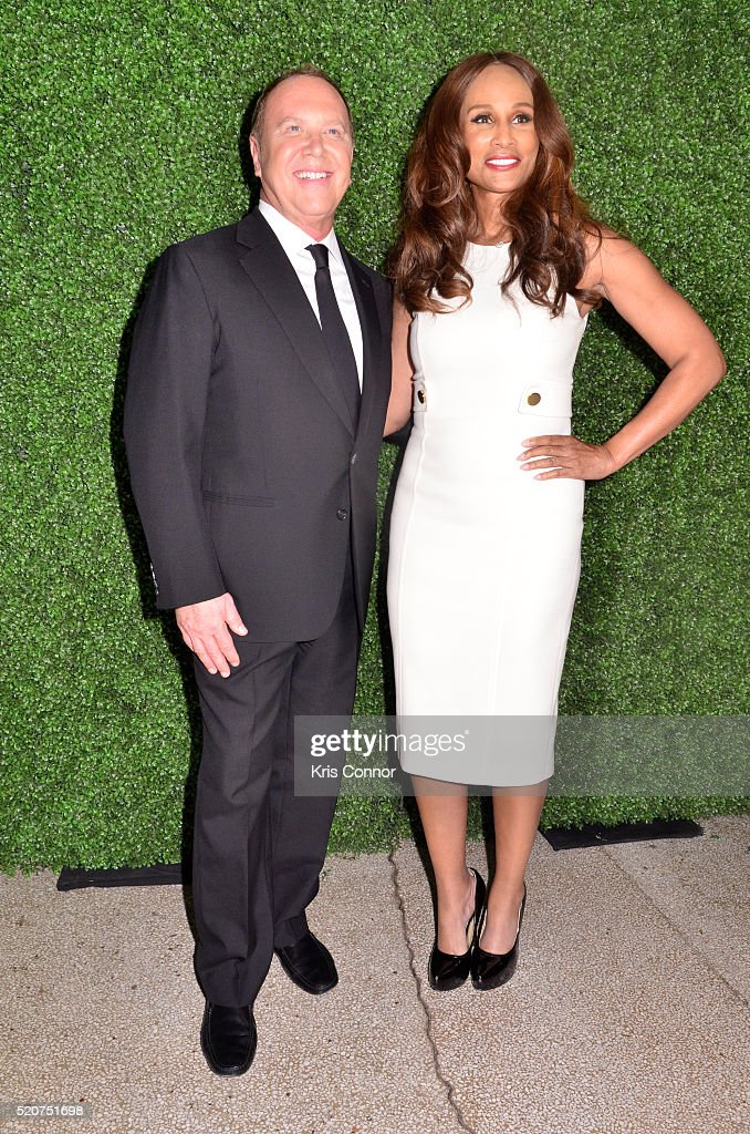 Fashion designer Michael Kors and Beverly Johnson attend the World Food Program USA's 2016 McGovern-Dole Leadership Award Ceremony at the Organization of American States on April 12, 2016 in Washington, DC.