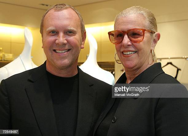 Fashion Designer Michael Kors and his mother Joan Kors attend his instore appearance and fashion show at Nieman Marcus on November 14 2006 in Beverly...