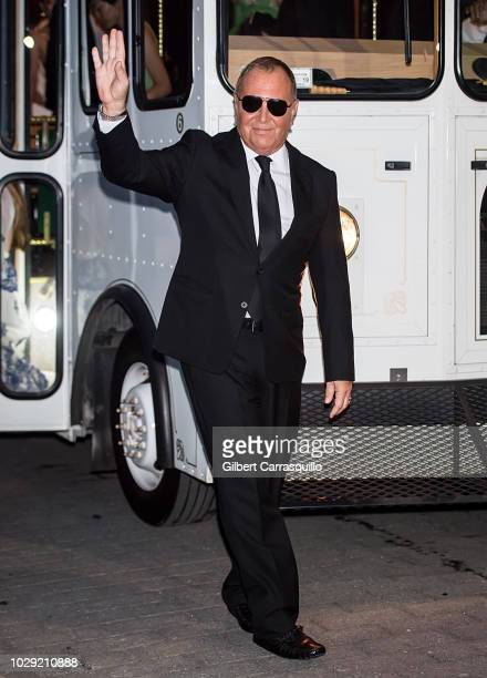 Fashion designer Michael Kors is seen arriving at the Ralph Lauren 50th Anniversary event during New York Fashion Week at Bethesda Terrace in Central...