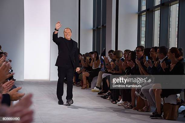 Fashion designer Michael Kors on the runway at the Michael Kors Spring 2017 Runway Show duing New York Fasion Week at Spring Studios on September 14...